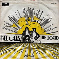 """BEE GEES My World 1972 Portugal Rare 7"""" 45 rpm Vinyl Single Pop Disco 70s  2058185 Free Worlwide Shipping"""