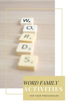 Check out these amazing word family activities for young children beginning their reading and writing adventure! Children love these word family activities!