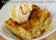 Pudding w/caramel sauce