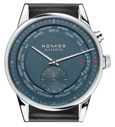 """Nomos Zurich Worldtimer Blue Watch - by Matt Diehl - see and read more about it now on aBlogtoWatch.com """"Achtung, German watchmaking enthusiasts! Since it was introduced in 2010, the Zurich Worldtimer - or Zürich Weltzeit, as it is known to our Deutsch-sprechen friends - has become one of the most compelling models released by the innovative German manufacture Nomos Glashütte. Now, the Nomos Worldtimer is being released later this fall in a new edition..."""""""