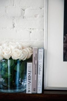 { on the fireplace mantle }