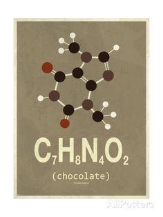 Molecule Chocolate Impression giclée