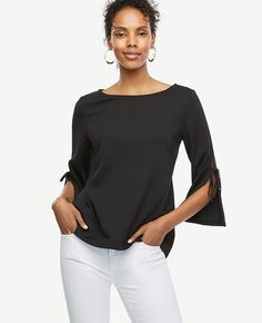 Shop Ann Taylor for effortless style and everyday elegance. Our Slit Sleeve Top is the perfect piece to add to your closet.