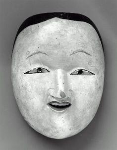 Ritual mask of the Onna type  宗教行事面 女  Japanese, Edo period, 19th century, Japanese cypress, MFA