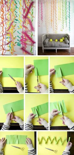 Party decor with paper