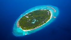 Dusit Thani Maldives: This remote tropical island retreat is located in the stunning Baa Atoll.