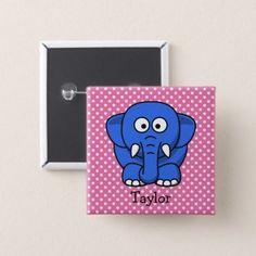 Custom cute funny cartoon cow bib custom cute funny cartoon elephant pinback button negle Choice Image