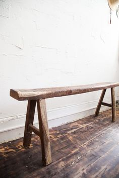 Antique Bench, How To Antique Wood, Entry Bench, Dining Bench, Furniture Projects, Diy Furniture, Deacons Bench, Holiday Hours, Ceramic Studio
