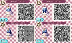 Qr codes for dresses on Animal Crossing New Leaf