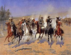 Frederick Remington This one hangs in my den..a print of course!