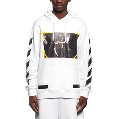 7 Opere hoodie sweatshirt from the F/W2016-17 Off-White c/o Virgil Abloh collection in white
