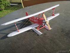 M1:33, Udet Flamingo (Rudolf Heger) из бумаги, модели бумажные скачать бесплатно - Учебно-тренировочный самолет - Авиация - Каталог моделей - «Только бумага»