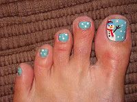 ToeTats: Christmas Toes