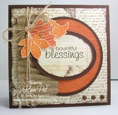 Super idea for pretty quick Thanksgiving cards. Love this! 8-)