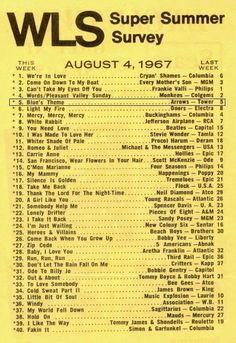 1967 Music Hits, 70s Music, Beach Music, My Kind Of Town, Song List, Song Playlist, Oldies But Goodies, Sweet Memories, Summer Of Love
