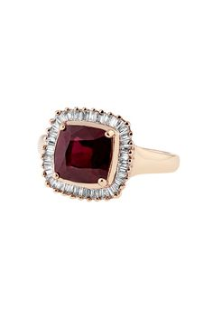 Can i just have this ring without getting married? love it. Effy 14K Rose Gold Ruby and Diamond Ring, 3.52 TCW