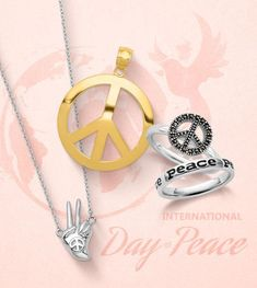 Peace cannot be kept by force; it can only be achieved by understanding. -Albert Einstein Happy International Day of Peace! #QualityGold #WorldPeaceDay #PeaceSign #PeaceSymbolJewelry #SymbolsofPeace #InternationalDayofPeace