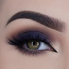 makeup, dark blue smokey eye,