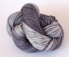 Hand Dyed DK Yarn - 50/50 Silk Superfine Merino 8Ply Yarn - Rocket Grey by ClementineAndThread on Etsy