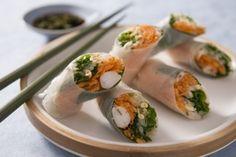 Rouleau de printemps aux crevettes roses, sauce aigre-douce, les recettes de nos chefs