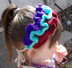 Ravelry: Ruffle Crochet Headband pattern by Jaime Payne