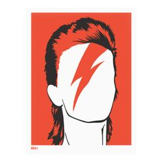 David Bowie Print Bright Red från Bold & Noble @ Hipstore