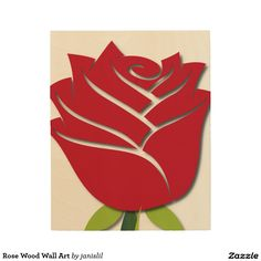Rose Wood Wall Art