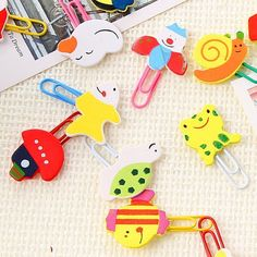 Discount Creative Small Gifts Cartoon Wooden Paper Clips, Colored Cute Animal Clips,Children'S School Supplies Paperclip From China | Dhgate.Com