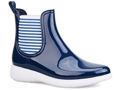 MaxMuxun Women Blue Comfort Sole Winther Warm Low Wedge Rain Booties Size 9 ** Click image for more details.