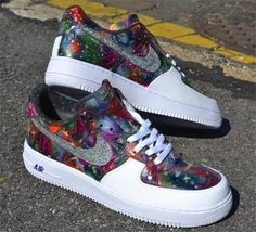 Dark Galaxy Custom Air Force One Sneakers
