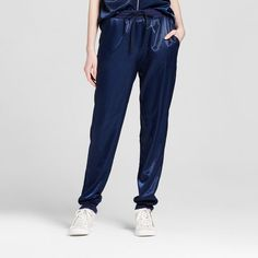 7f658f797b Details about MOSSIMO WOMENS SATIN NAVY JOGGER Size M