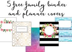 These printable binder covers are the perfect way to update your boring family binder. These cute binder covers would work great for planners or school notebooks as well! Happy Planner Cover, Free Planner, Printable Planner, Planner Stickers, Planner Covers, Meal Planning Binder, Meal Planner, Menu Planning, Cute Binder Covers