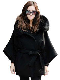 Fashion Solid Tight Waist Long Sleeve Winter Coat