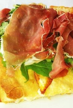 My absolute favourite focaccia - cheese, parma ham, and rocket. Genova, Italy is foodie heaven!