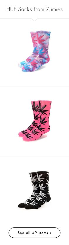 """HUF Socks from Zumies"" by xqueen-of-anglesx ❤ liked on Polyvore featuring intimates, hosiery, socks, tye dye socks, multicolor socks, padded socks, tie dyed socks, colorful cotton socks, huf and crew length socks"