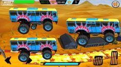 Racing Games For Kids - Monster School Bus Racing in Desert - Video Game. Racing Games For Kids, Video Games For Kids, Monster School, Deserts, Desserts, Dessert, Postres
