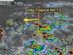 Paso de la Onda Tropical 13 mantiene nublados densos/Lluvias Oriente , Sur y Norcentro de Venezuela