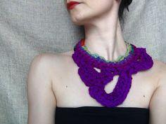 Silk necklace crochet necklace silk yarn jewelry by WearitCrochet