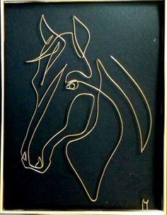 cal de rasa 20190218_153252-1 Wire Art Sculpture, Plaster Sculpture, Tree Wall Art, Hanging Wall Art, Decorative Metal Screen, Horse Stencil, Art Fil, Wall Art Wallpaper, Scrap Metal Art