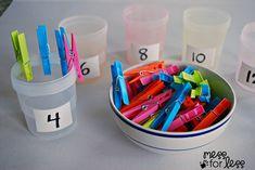 Clothespin Math - Preschool Math Activity