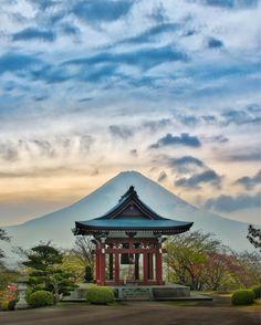 Here's a photo I just finished of Mount Fuji behind a pagoda as evening falls... #mtfuji #fujisan #japan