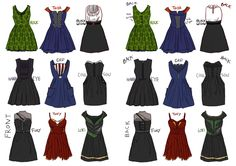 Avengers Dresses by Robinade.deviantart.com on @deviantART LOVE. Someone with dressmaking abilities, we need to talk!