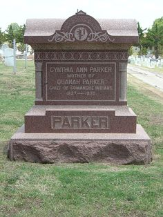 "grave of Cynthia Parker - life basis for ""The Searchers"" book/movie Native American Church, Native American Photos, Native American History, Native American Indians, Native Americans, Quanah Parker, Oklahoma Usa, Cherokee, Trail Of Tears"