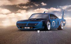 Ford Raptor by Rain Prisk on ArtStation. Custom Muscle Cars, Custom Cars, Plymouth Muscle Cars, Plymouth Superbird, Car Illustration, Car Wheels, Car Pictures, Luxury Cars, Vintage Cars
