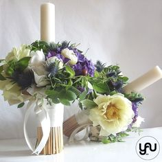 Wedding Flowers, Flora, Candles, Table Decorations, Bouquets, Design, Home Decor, First Holy Communion, Wedding