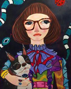 Unskilled Worker: Cousin Mandy, The Gucci Chronicles Art Inspiration, Fine Art Portraiture, Illustration Art, Canvas Art, Art, Pop Art, Face Art, Artist, Portrait Art