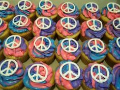 Cupcakes: Peace Sign Cupcakes from ratemycakes.com