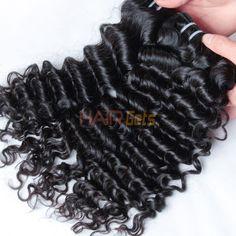 Indian Virgin Hair Weave Deep Wave Natural Black Only Virgin Indian Hair, Virgin Hair, Indian Hairstyles, Weave Hairstyles, Indian Hair Weave, 100 Human Hair Extensions, Weaving, Waves, Sky