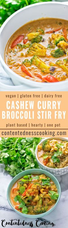 An amazingly rich Cashew Curry Broccoli Stir Fry. Only vegan and gluten free ingredients, and super easy to make. Its flavors are amazingly rich and incredibly satisfying. This is an easy one-pot meal you don't want to miss.