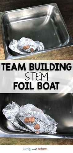 Team Building STEM Activity Foil Boat: For this team building STEM challenge students build a boat that can hold the most pennies or marbles. This back to school challenge is perfect for building classroom community at the beginning of the year. Steam Activities, Team Building Activities, Nature Activities, Foil Boat, Elementary Science Classroom, Classroom Ideas, Building Classroom Community, Stem Classes, Build Your Own Boat